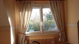 Double rideaux avec ruflette