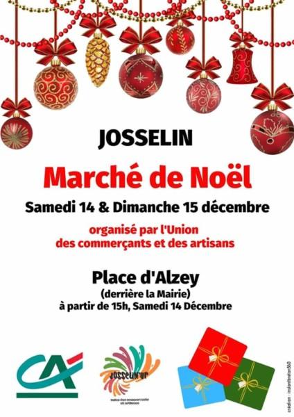 Affiche marché de Noël de Josselin 2019