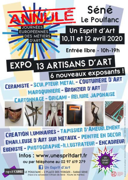 Annulation Journées Européennes Métiers d'Arts