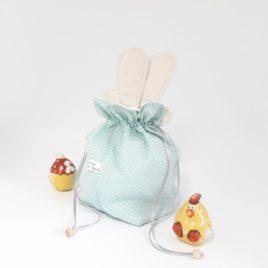 Aumônière de Pâques à oreilles lapin